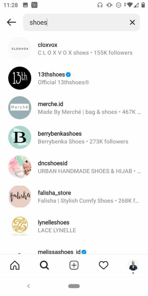 Fitur Pencarian di IG Shopping